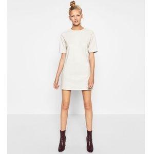 Zara Trafaluc Faux Leather Shift Dress size XL